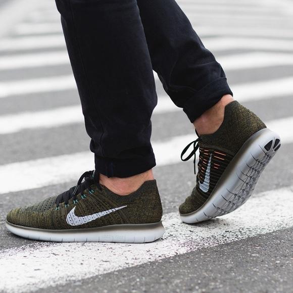 NWT Nike Free Rn Flyknit CRG Khaki ?. NWT